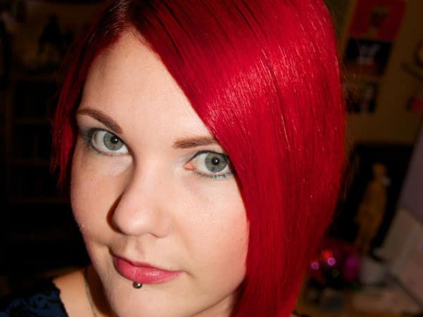 straight red hair