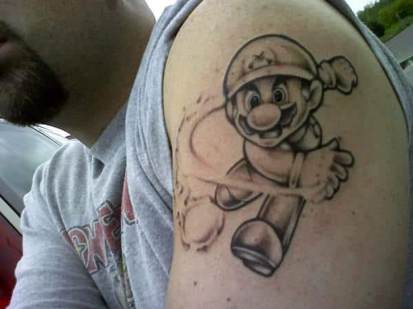 mario brothers tattoo