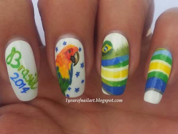 11 awesome nail art designs for the 2014 world cup brazil world cup nail art prinsesfo Images