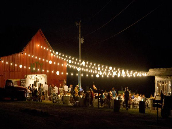 Barn with Lights Reception