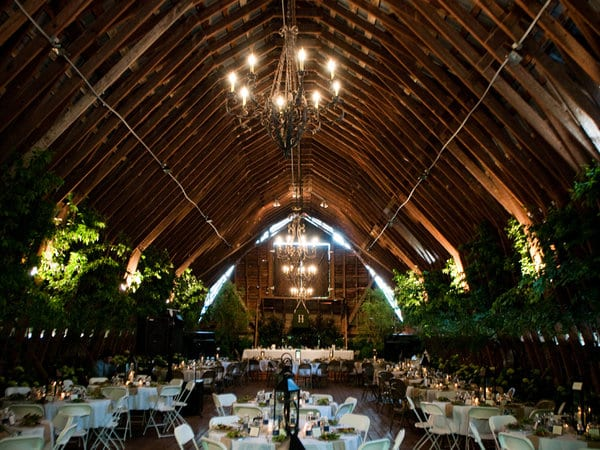 Barn Reception with Trees