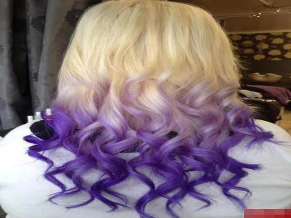 Blond and Purple Hairstyle