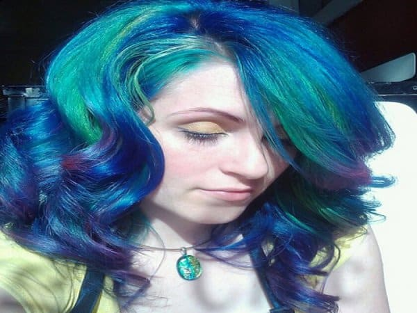Blue Hairstyles 13