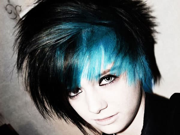 Blue Hairstyles 8