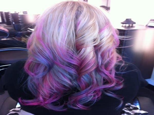 Hairstyles Purple : ... purple is to have streaks of different colors of purple mixed in with