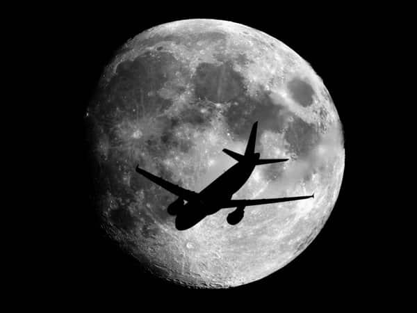 Plane on the Moon