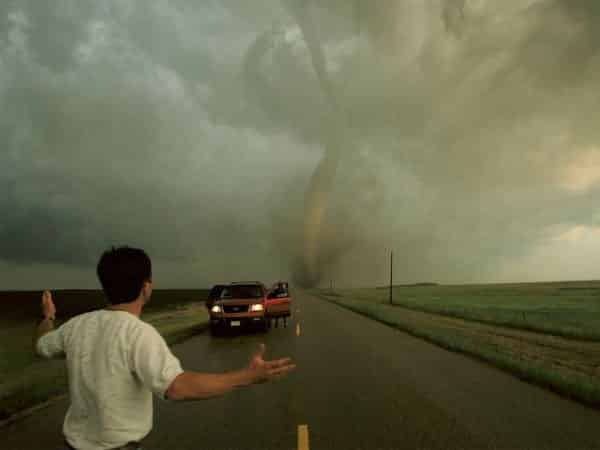 Tornado with Storm Chasers