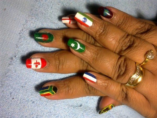 World Cup Flag Nails