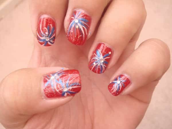 4th of July Nails 1
