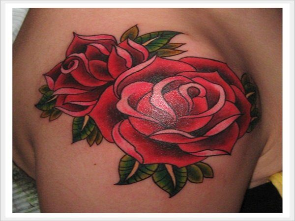 Twin Roses Arm Tattoo