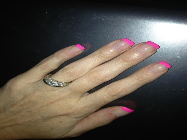 Pink Tipped French Manicure Nails