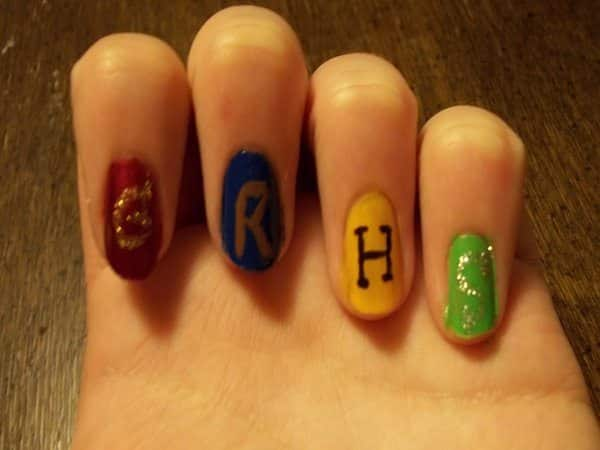 Harry Potter House Colors with House Initials