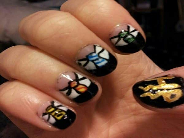 Harry Potter Uniform Nail Designs