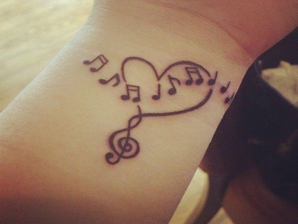 Heart with Floating Musical Notes