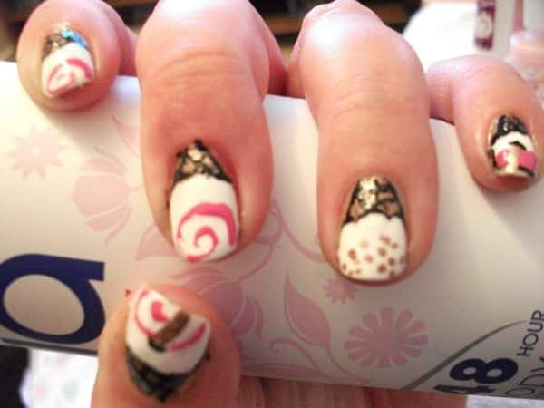 Ice Cream Swirl and Sprinkles Nails
