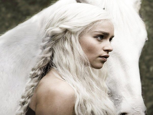 Game of Thrones Long White Braided Hair