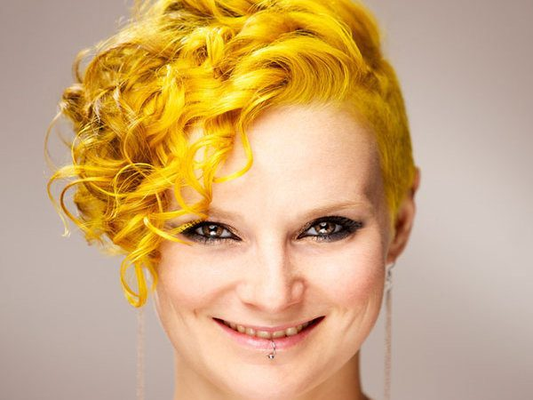 Curly Style Yellow Hair