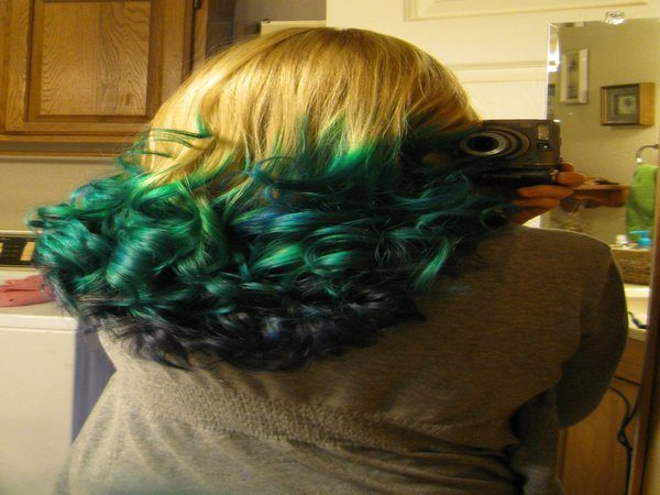 Yellow Hair With Green Ends