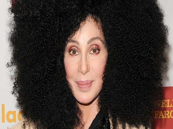Cher with Black Afro