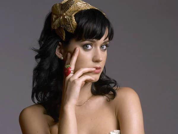 Katy Perry Long Black Curly Hair