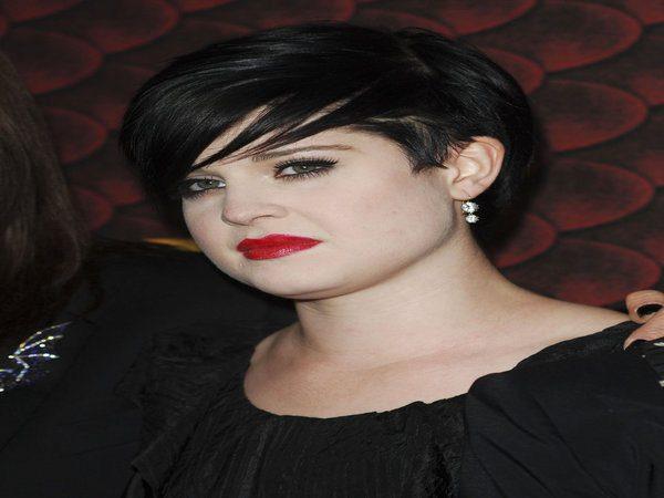 Kelly Osbourne Black Straight Short Hairstyle