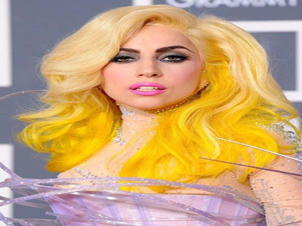 Lady Gaga Long Blond and Yellow Hair