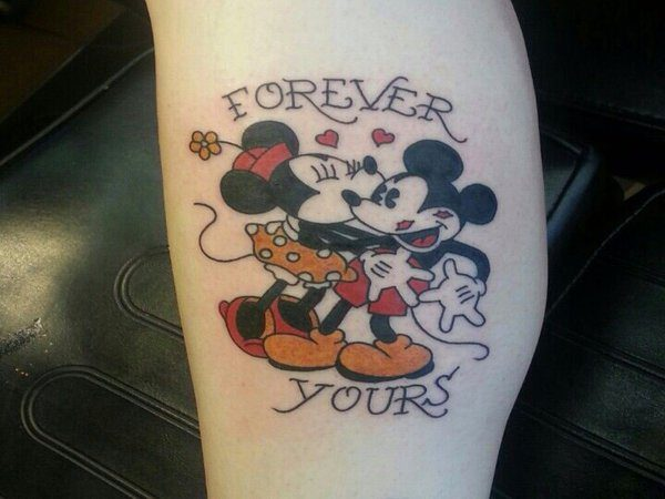 Mickey and Minnie Mouse Forever Yours Tattoo