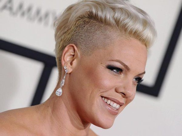 Pink with Blond Hair and Shaved Side