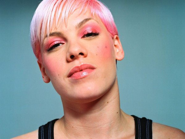 Pink with Flat Hair Dyed Pink