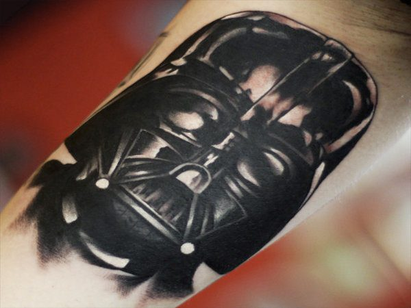 Darth Vader Head Only Tattoo