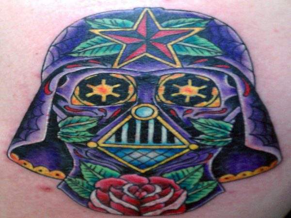 Darth Vader Mexican Sugar Skull Tattoo