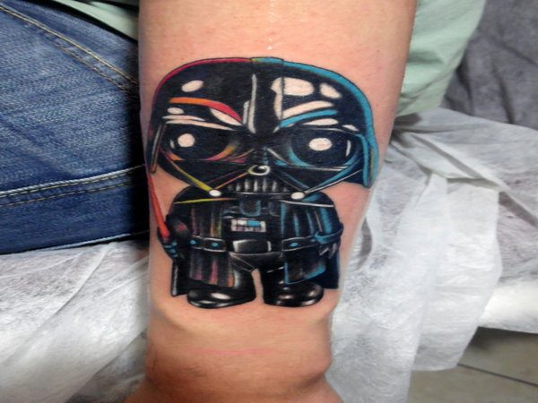 Family Guy Darth Vader Tattoo with Colors