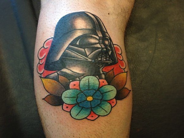 Darth Vader with Flower Tattoo