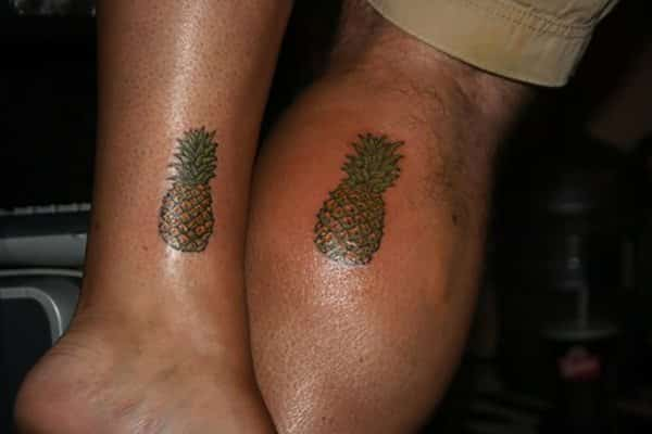 Double Pineapple Tattoo