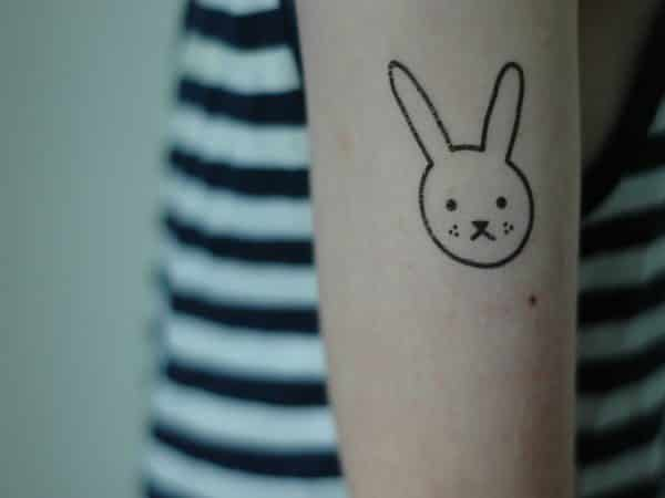 Bunny Face Arm Tattoo