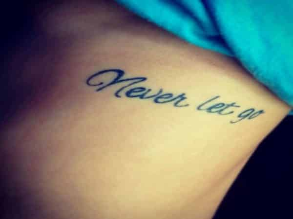 Never Let Go Titanic Quote Tattoo