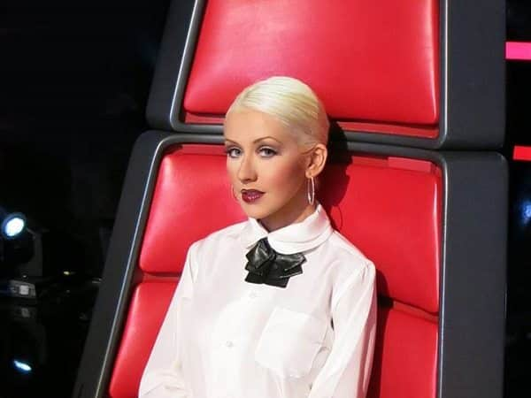 Christina Aguilera with Slicked Back Vintage Hairstyle