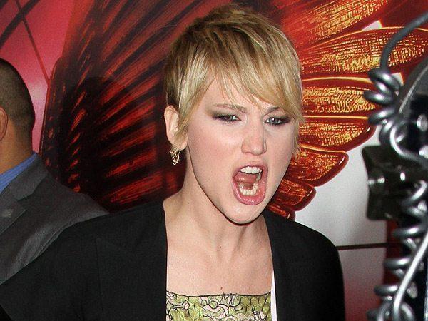 Jennifer Lawrence Doing a Lion Imitation