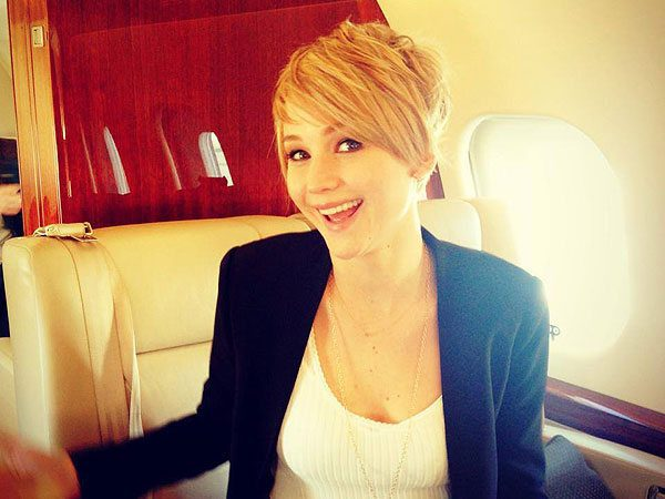 Jennifer Lawrence In a Private Plane