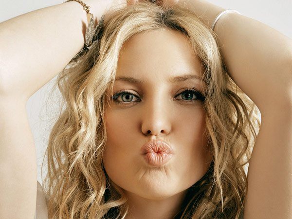 Kate Hudson Kissy Face Headshot