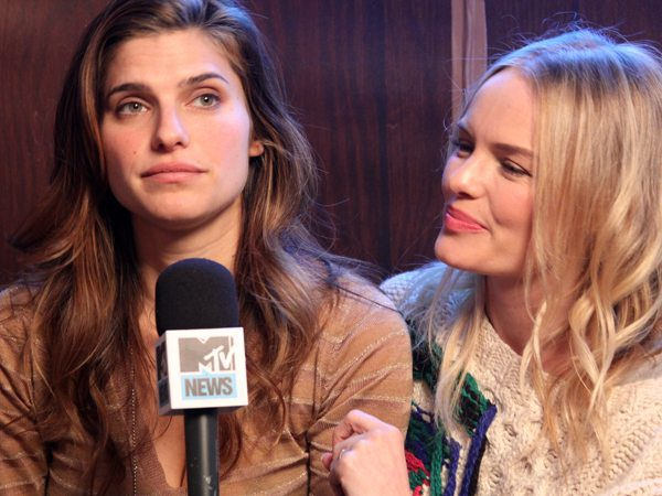 Lake Bell Doing MTV Interview
