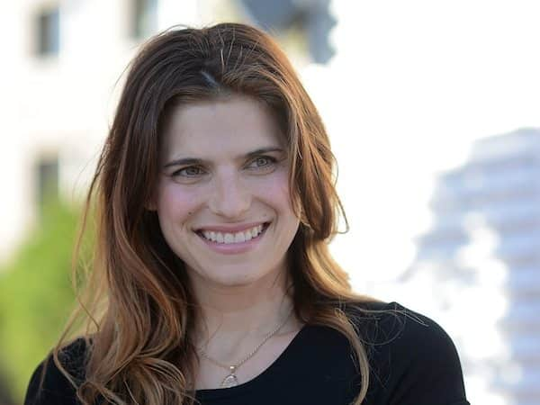 Lake Bell Wearing Black Shirt and Smiling