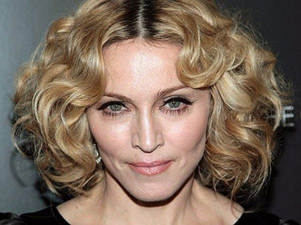 Madonna with Short Curly Blond Hair