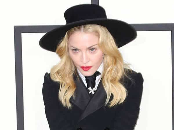 Madonna In Black Suit and Black Hat