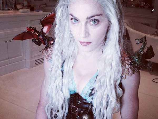 Madonna Reenacting Game of Thrones Hairstyle