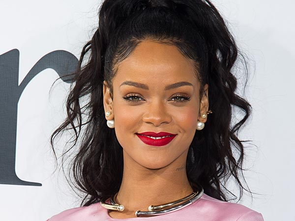 Rihanna On the Red Carpet with Dark Hair