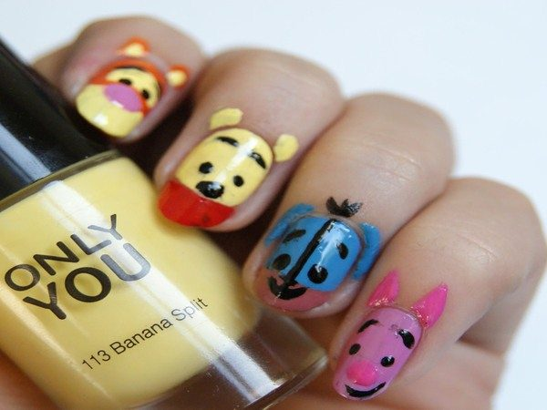 Winnie the Pooh Nails with Classic Pooh Characters
