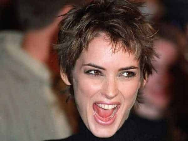 Winona Ryder with Short Spiked Hair