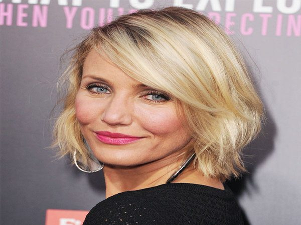 Cameron Diaz with Short Layered Hair