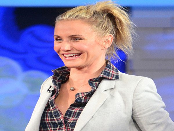 Cameron Diaz High Pony Tail Hairstyle